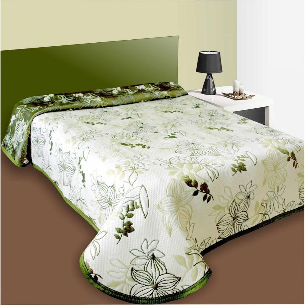 Forbyt Prehoz na posteľ Lisbon zelený, 240 x 260 cm