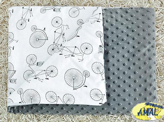 AMAL Deka MINKY sivá, Bicykle, 75x100 cm