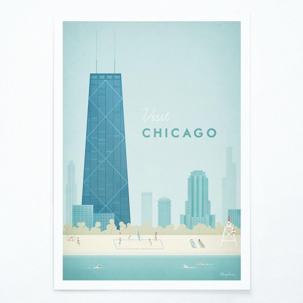 Plagát Travelposter Chicago, A3