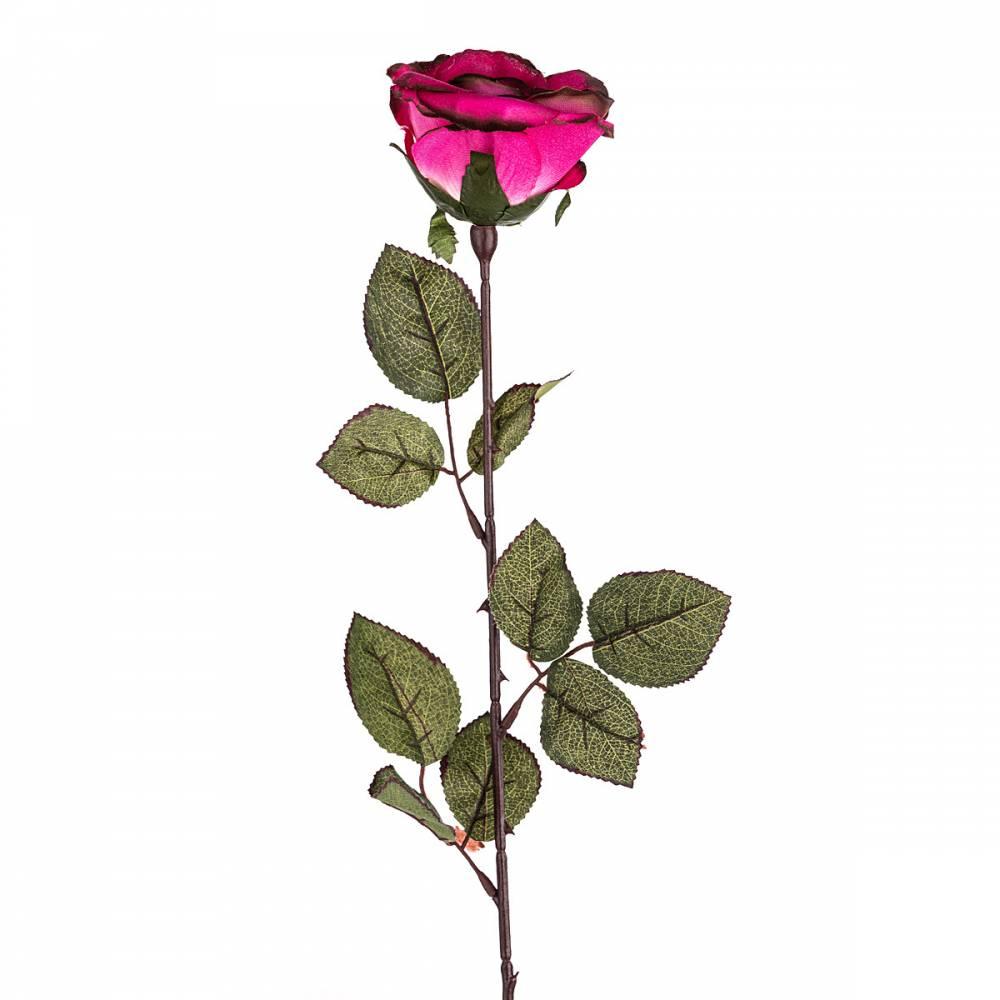 Umelá kvetina Ruža veľkokvetá 72 cm, ružová