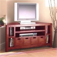 Furniture nábytok  Masívny Tv stolík so 4 zásuvkami a policami  z Palisanderu  Svaran  110x45x50 cm