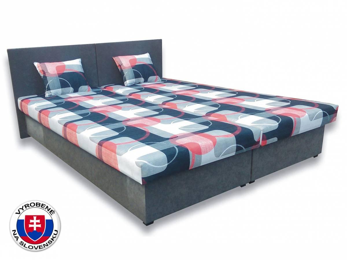 Manželská posteľ 160 cm Silvia (s penovými matracmi)