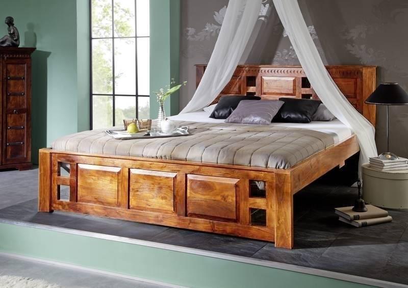 OXFORD HONIG posteľ #0254 masívny agát 200x200