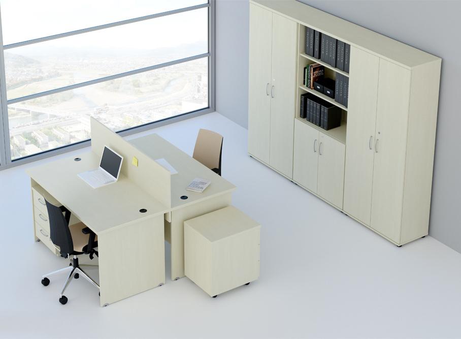 Rauman Zostava kancelárskeho nábytku Visio 6 calvados R111006 03