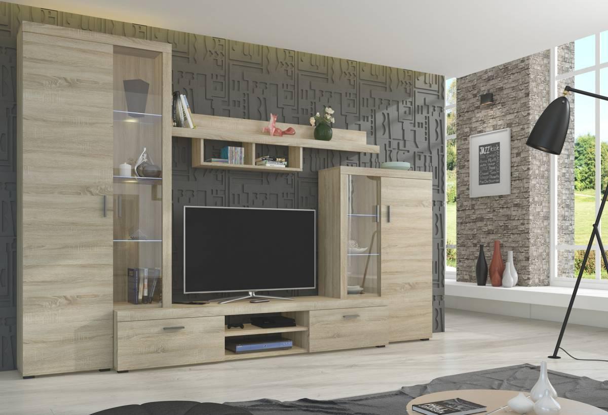 Vysoká obývacia stena ASTA, dub sonoma