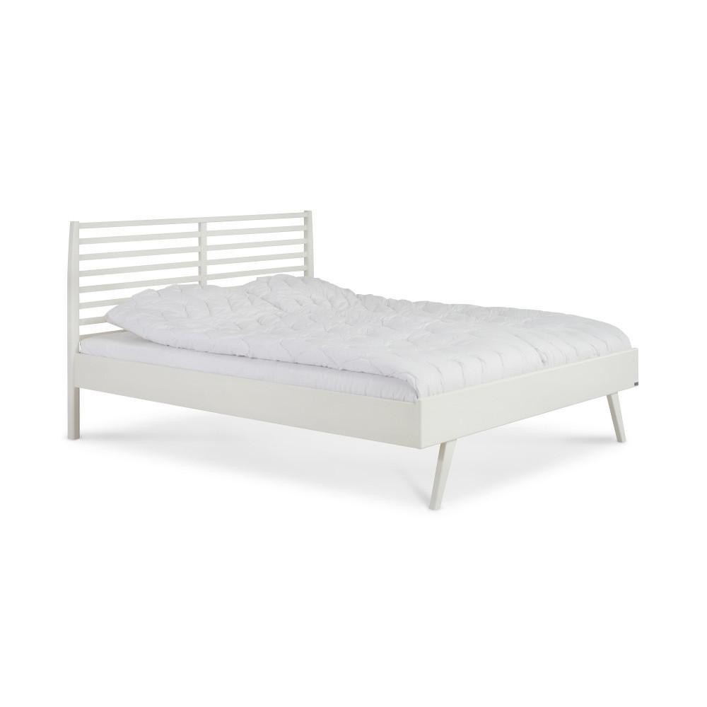 Biela ručne vyrobená posteľ z masívneho brezového dreva KiteenNotte, 160x200cm
