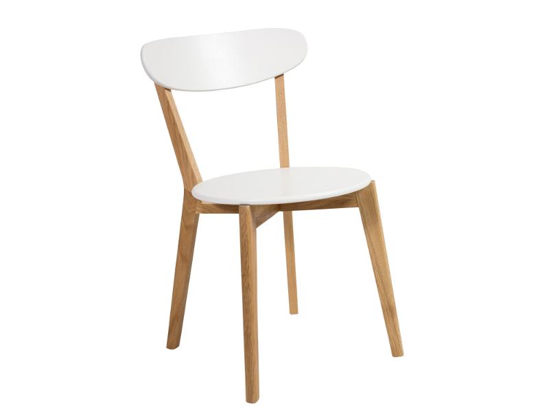Jedálenská stolička Milan (biela + dub)