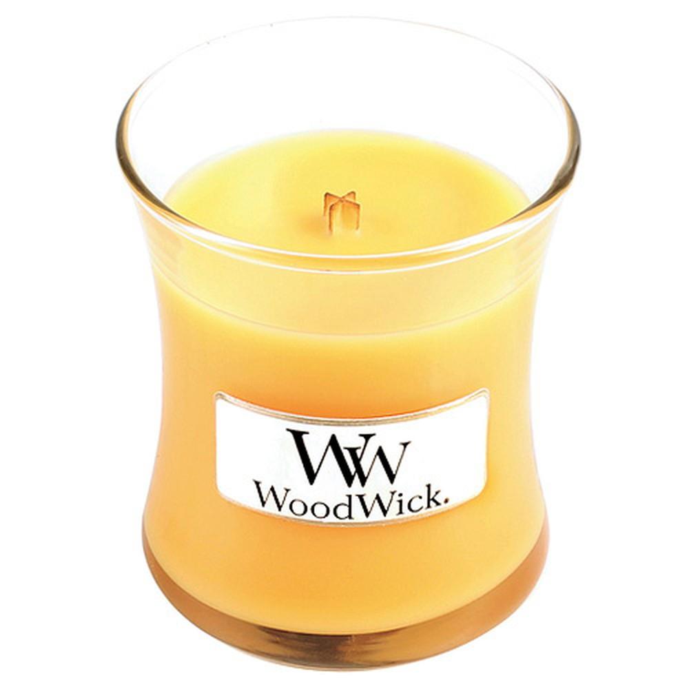 Sviečka s vôňou citrusov a šampanského Woodwick Prímorský koktail, doba horenia 20 hodín