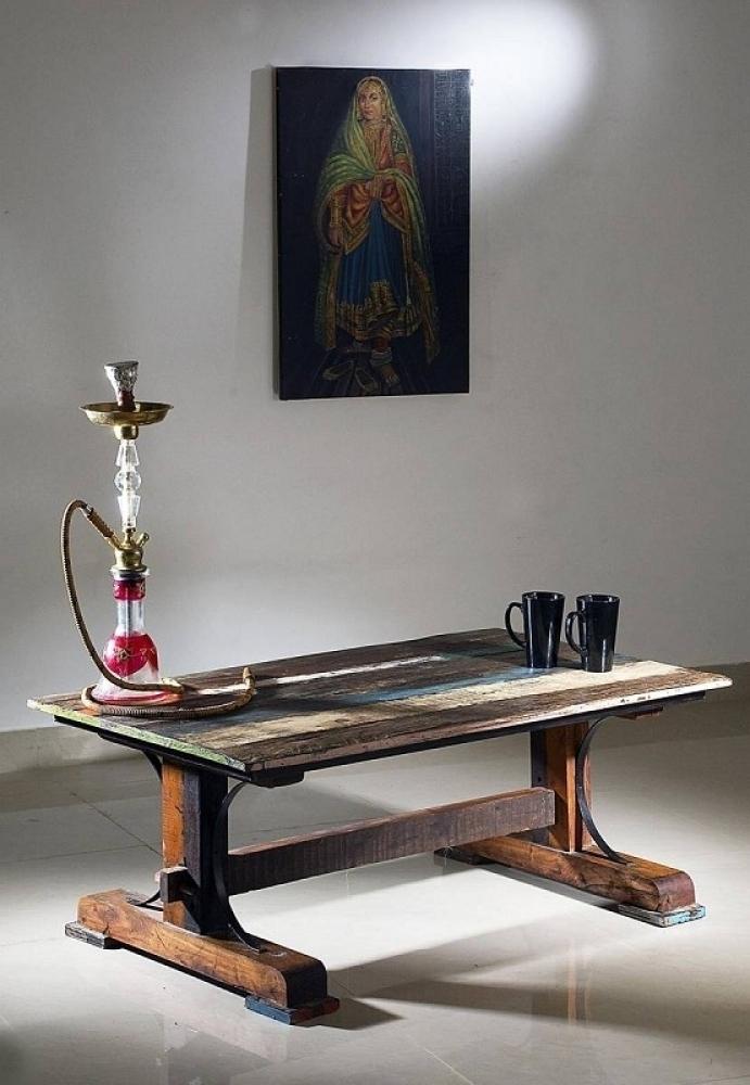 SPIRIT konferenčný stolík #06 - 120x70cm lakované staré indické drevo