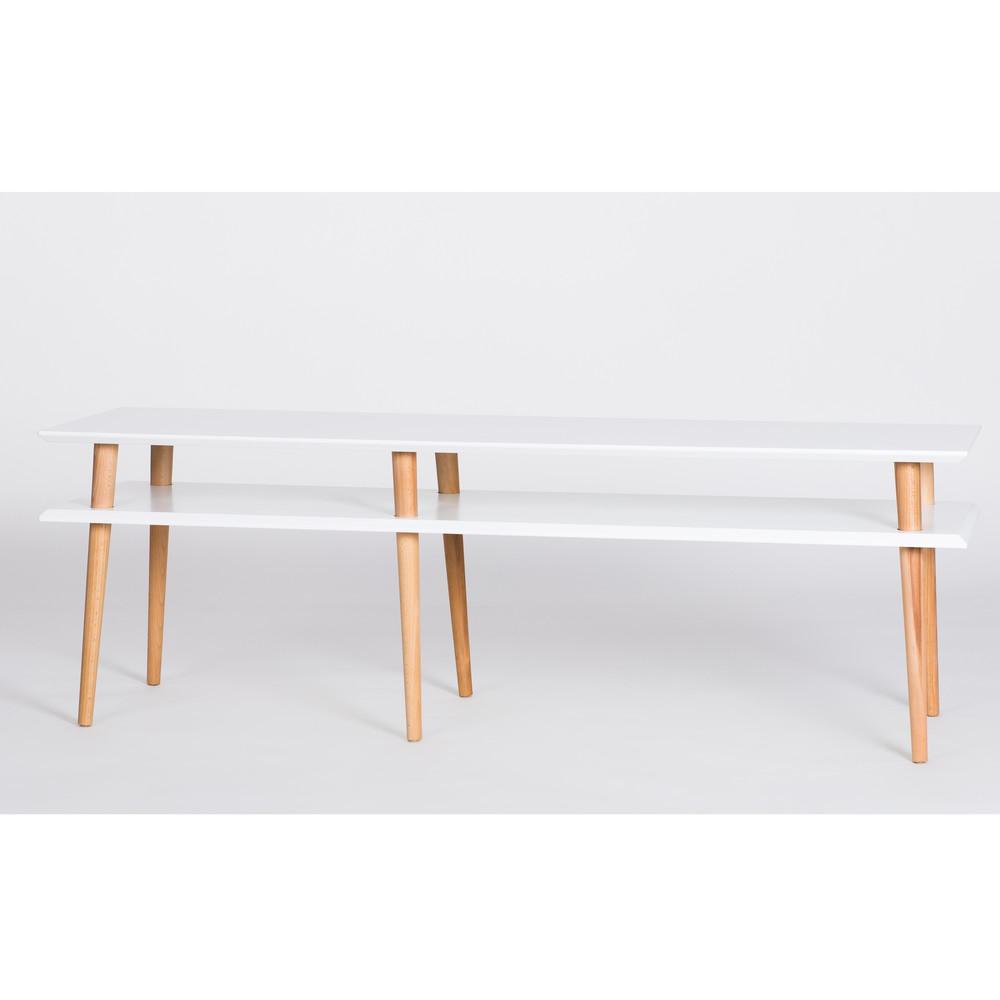 Biely konferenčný stolík Ragaba Mugo,dĺžka 159cm