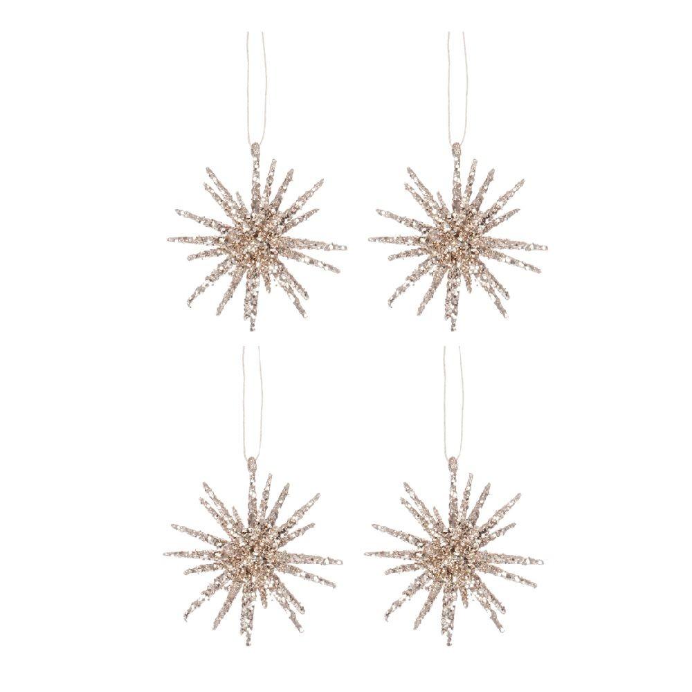 Set 4 dekorácií Hanging Glit
