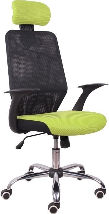 Kancelárska stolička, čierna/zelená, REYES
