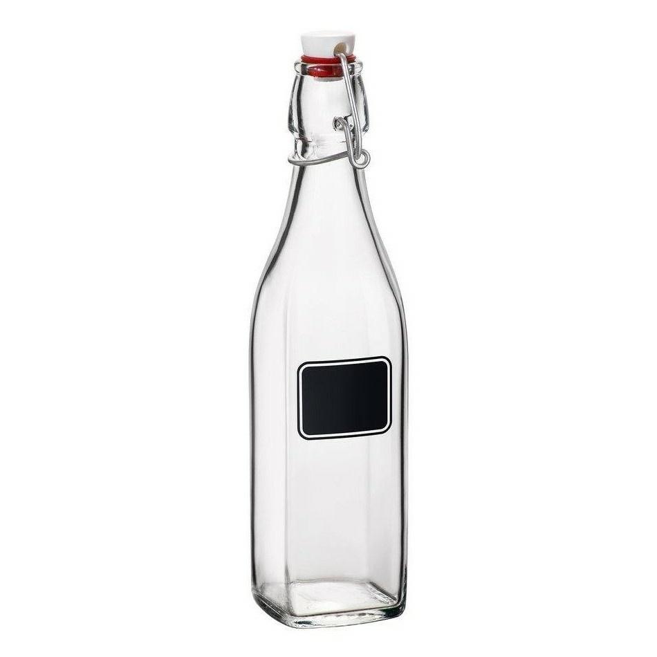 Florina Sklenená fľawša s clip uzáverom Swing, 500 ml
