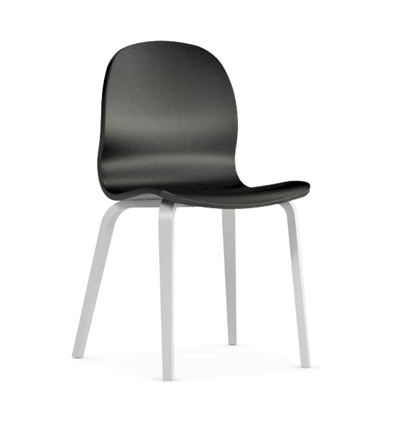 Jedálenská stolička Possi čierna   Farba: Čierna/biela