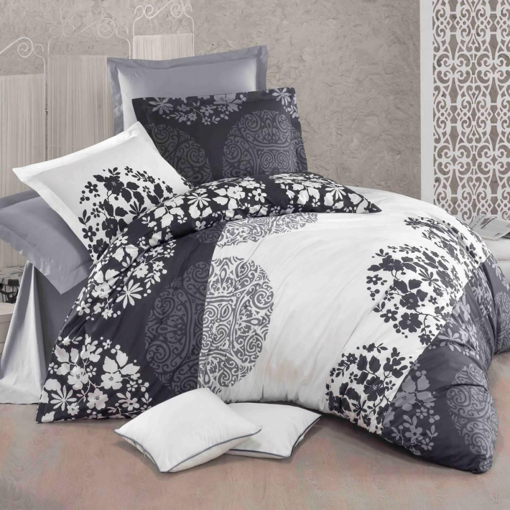 Kvalitex Bavlnené obliečky Delux Grey fields, 200 x 200 cm, 2 ks 70 x 90 cm