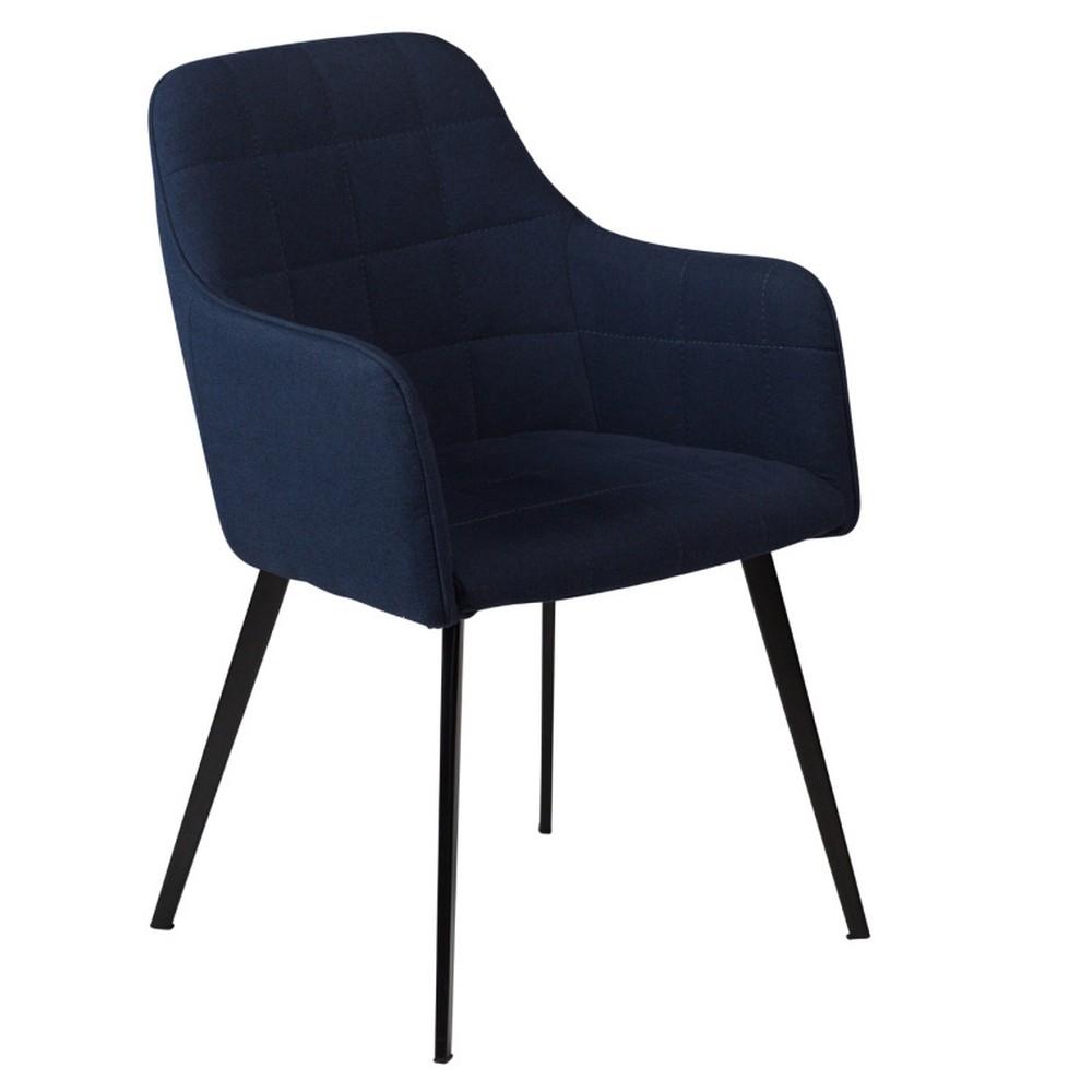 Tmavomodrá jedálenská stolička s opierkami DAN– FORM Embrace