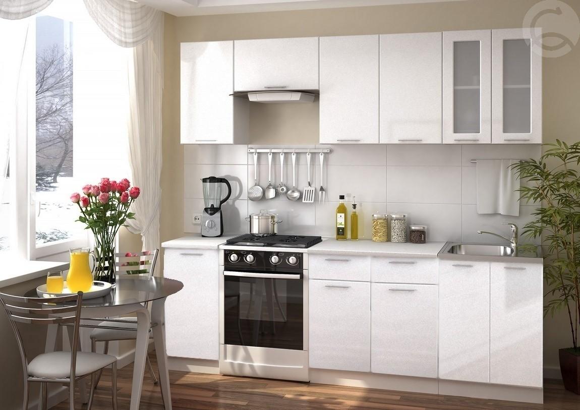 Kuchynská zostava VALENCIA  240, biely metal