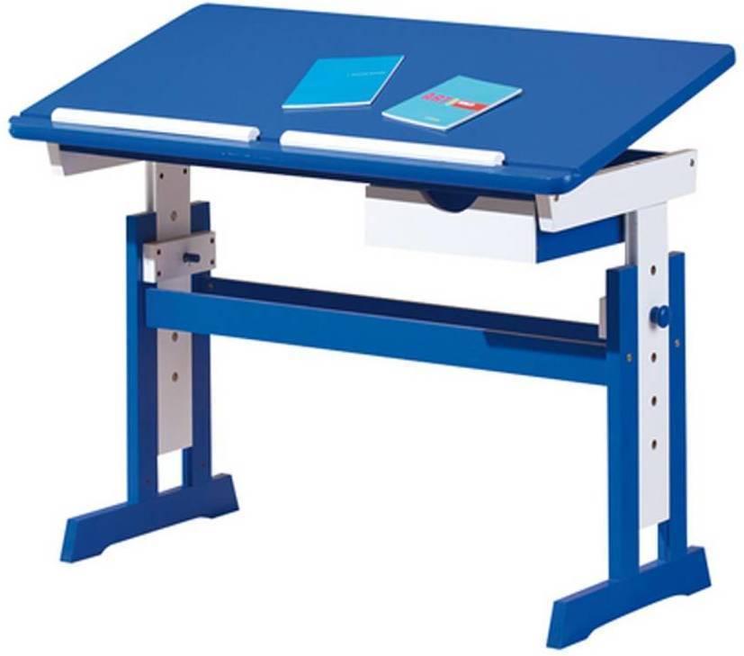 Paco - písací stôl modro / biely