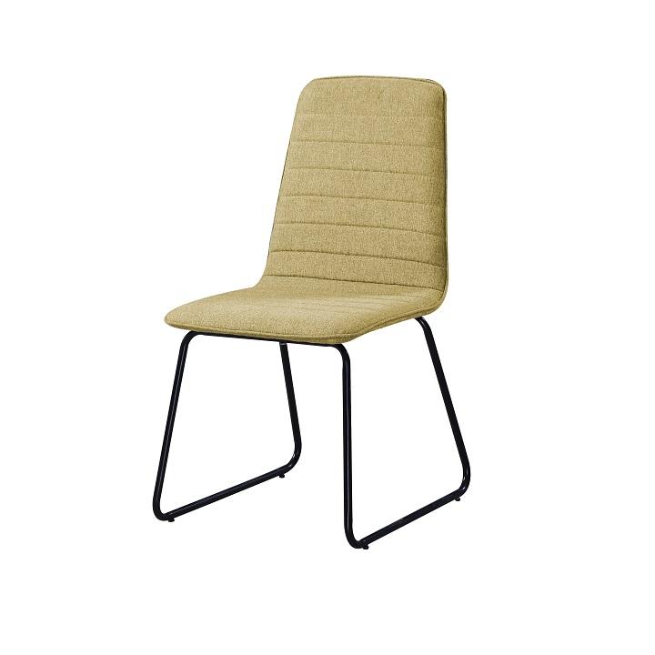 Jedálenská stolička Danuta (zelenožltá + čierna)
