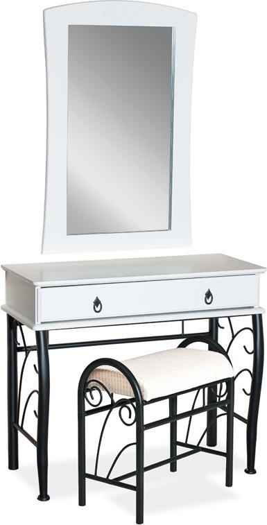 SIGNAL 1102 toaletný stolík - biela / čierna