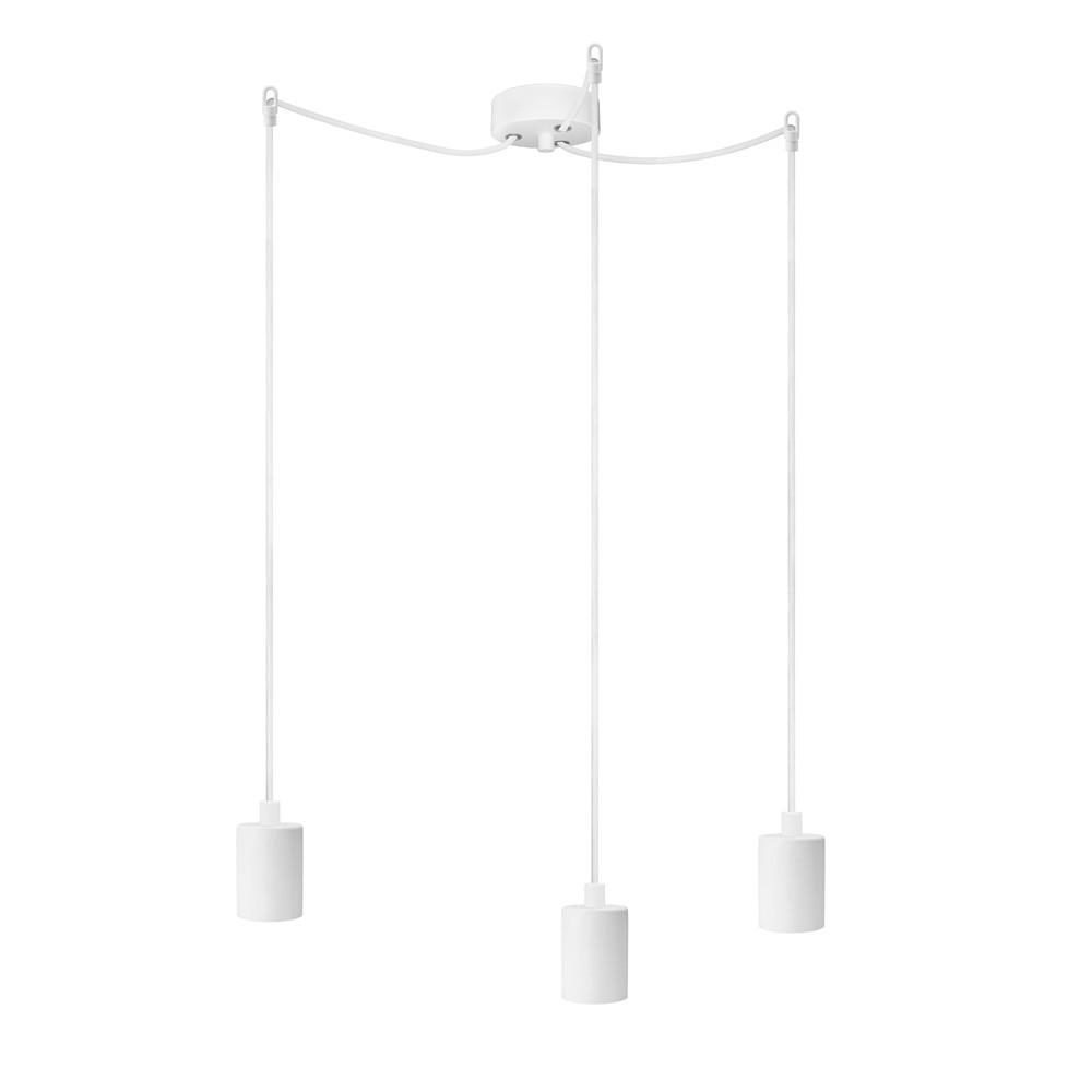 Biele závesné svietidlo s 3 káblami Bulb Attack Cero Basic