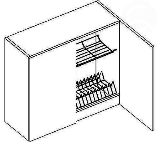 W80SZS horná skrinka s odkvapávačom, vhodná ku kuchyni MERKURY
