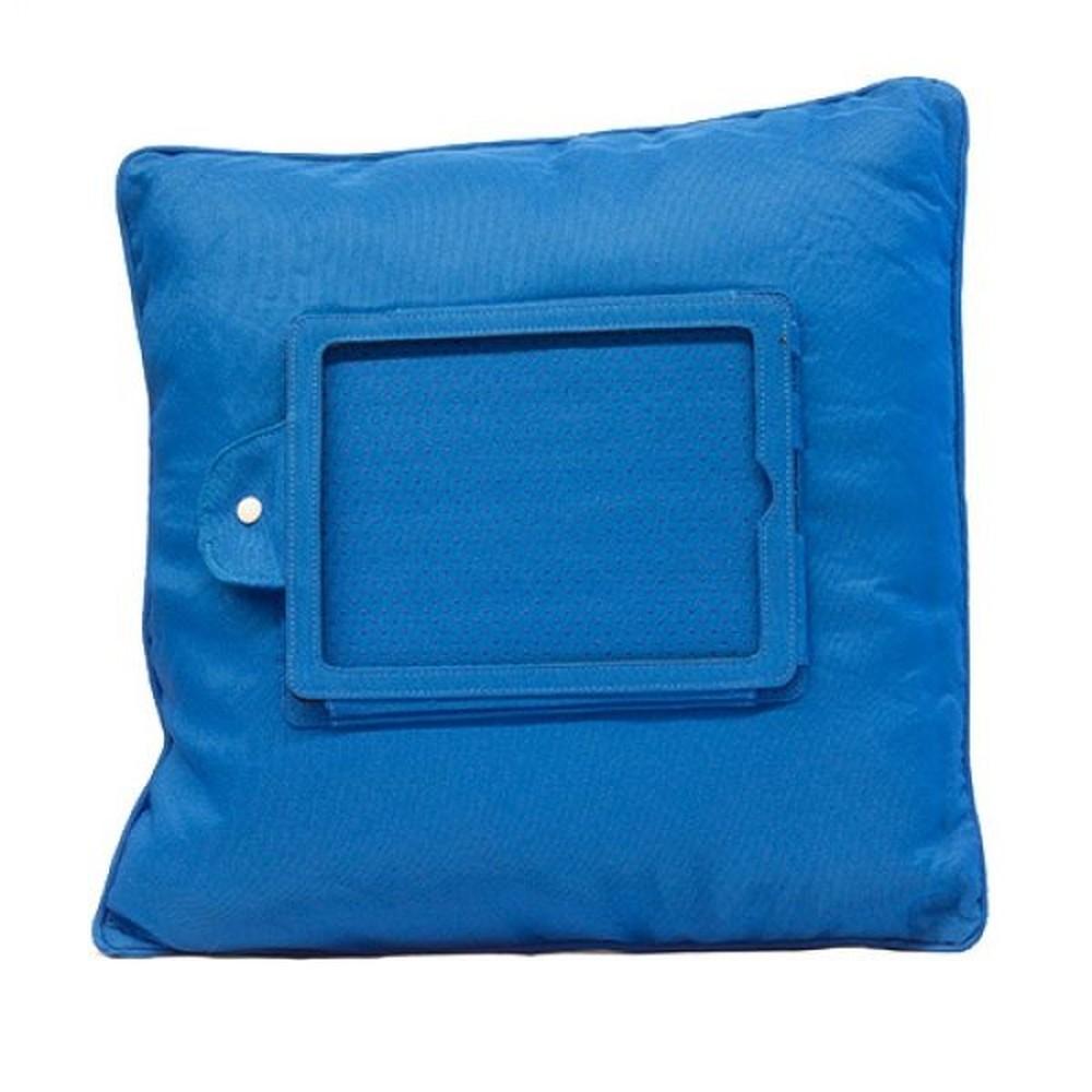 Modrý vankúš s držiakom na iPad InnovaGoods