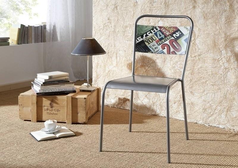 INDUSTRIAL stolička #16, liatina a staré drevo