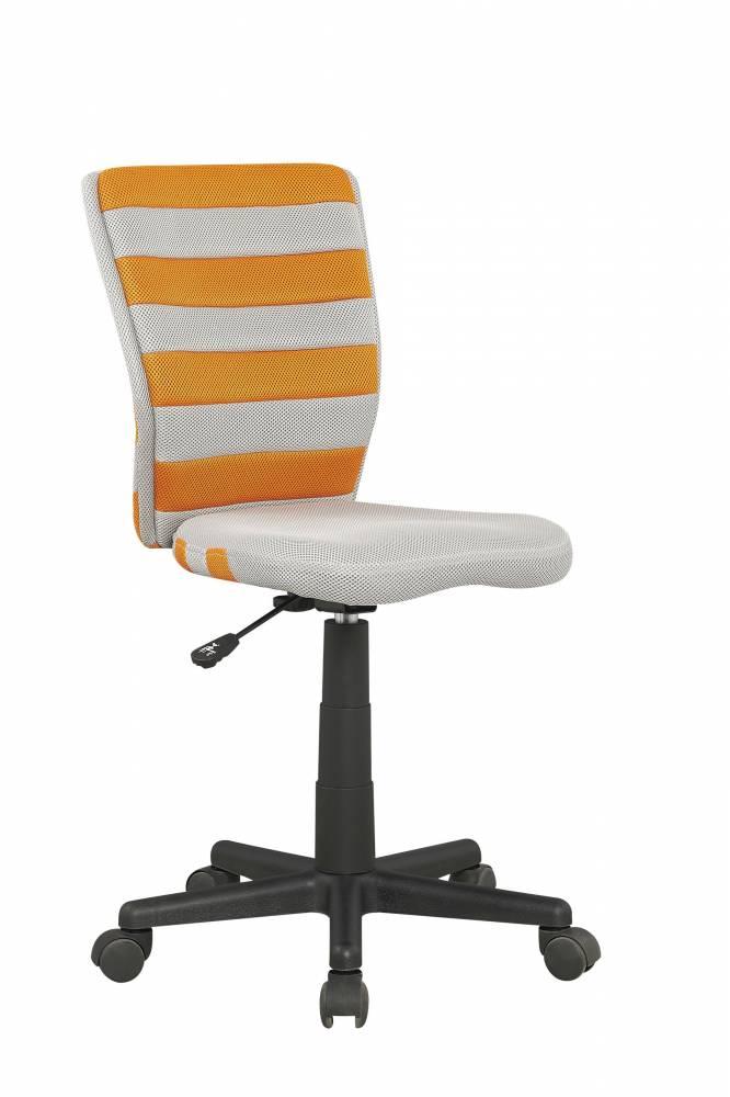 Detská stolička Fuego (sivá + oranžová)