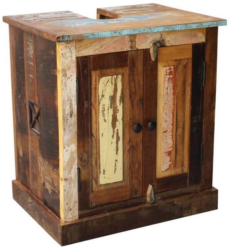 SPIRIT BAD Skrinka pod umývadlo #101 indické staré drevo