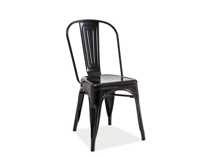 Jedálenská stolička Loft (čierna)