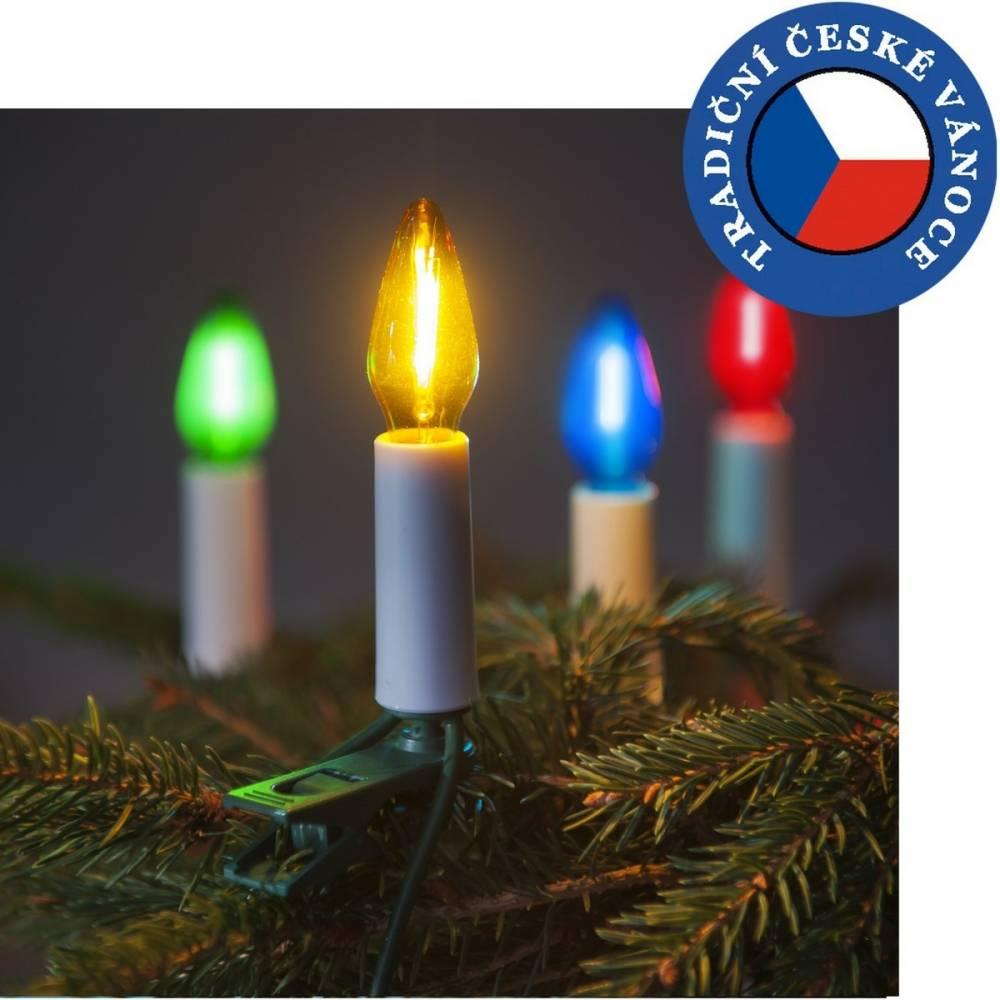 Súprava Felicia LED Filament farebná SV-16, 16 žiaroviek