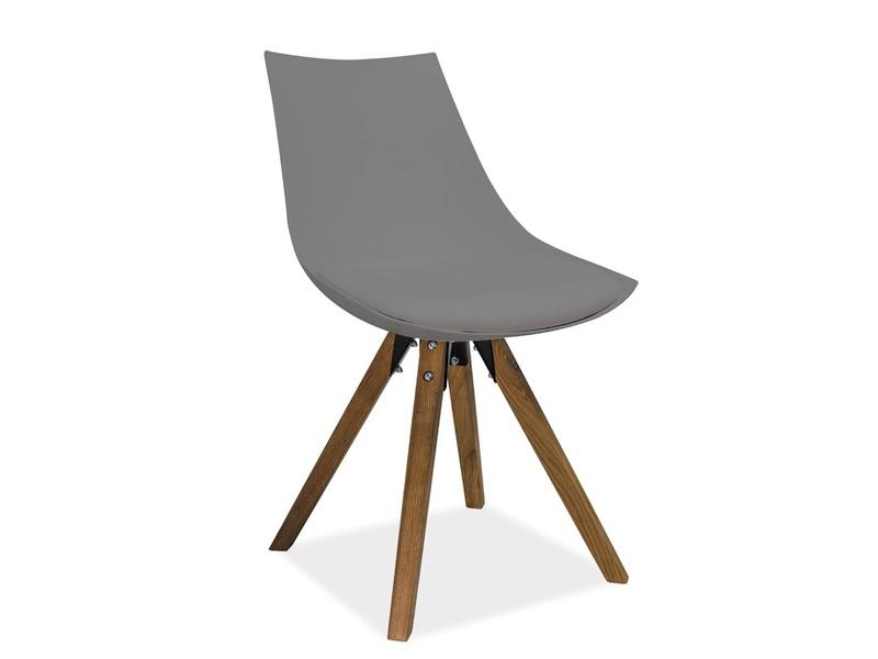 LENA jedálenská stolička, buk/šedá