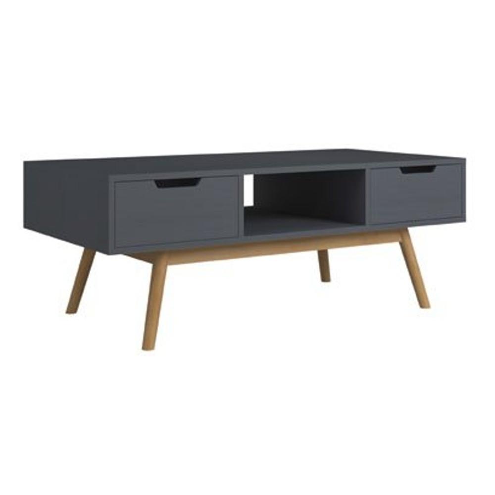 Sivý konferenčný stolík z borovicového dreva SOB Van