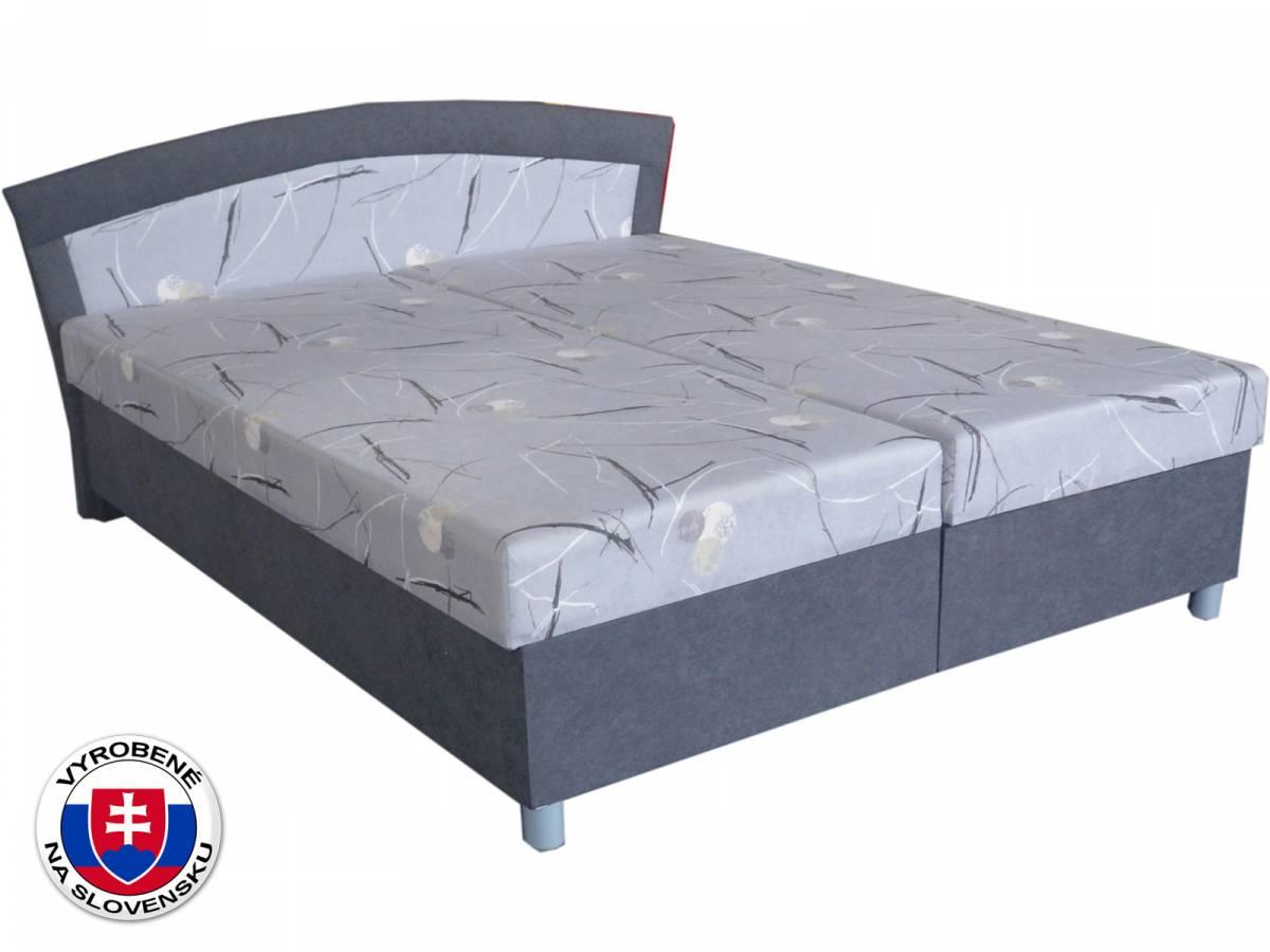 Manželská posteľ 180 cm Brigita (s pružinovým matracom)
