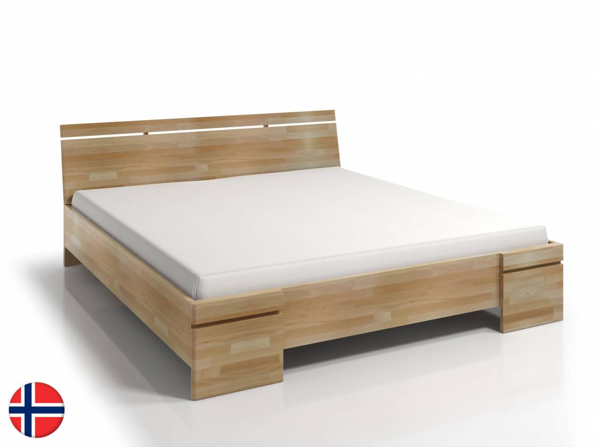 Manželská posteľ 160 cm Naturlig Bavergen Maxi ST (buk) (s roštom a úl. priestorom)