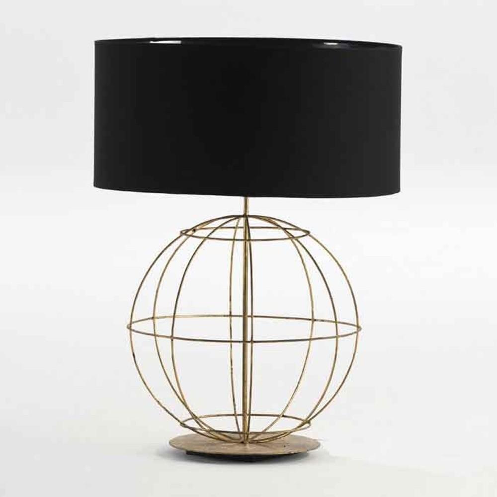 Čierna stolová lampa bez tienidla Thai Natura Spires