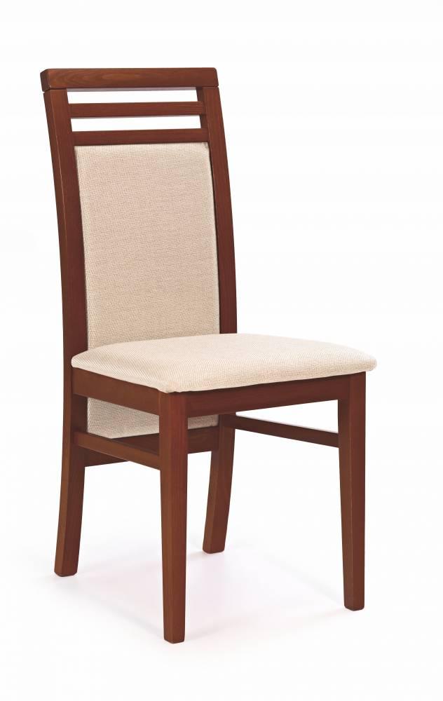 Jedálenská stolička Sylwek 4 (čerešňa antická II + béžová)