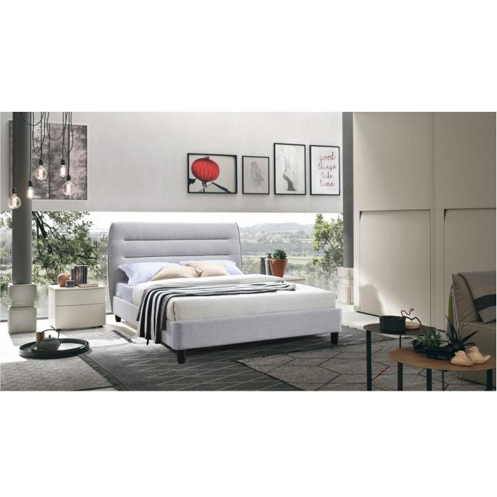 TEMPO KONDELA Manželská posteľ, sivý melír, 160x200, MAJESTIK