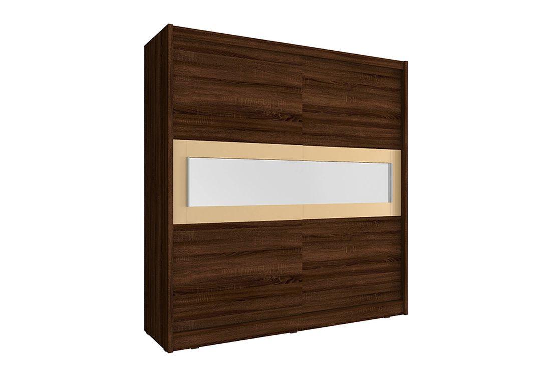 Šatníková skriňa WHITNEY 4, 180x200x62 cm, čokoláda