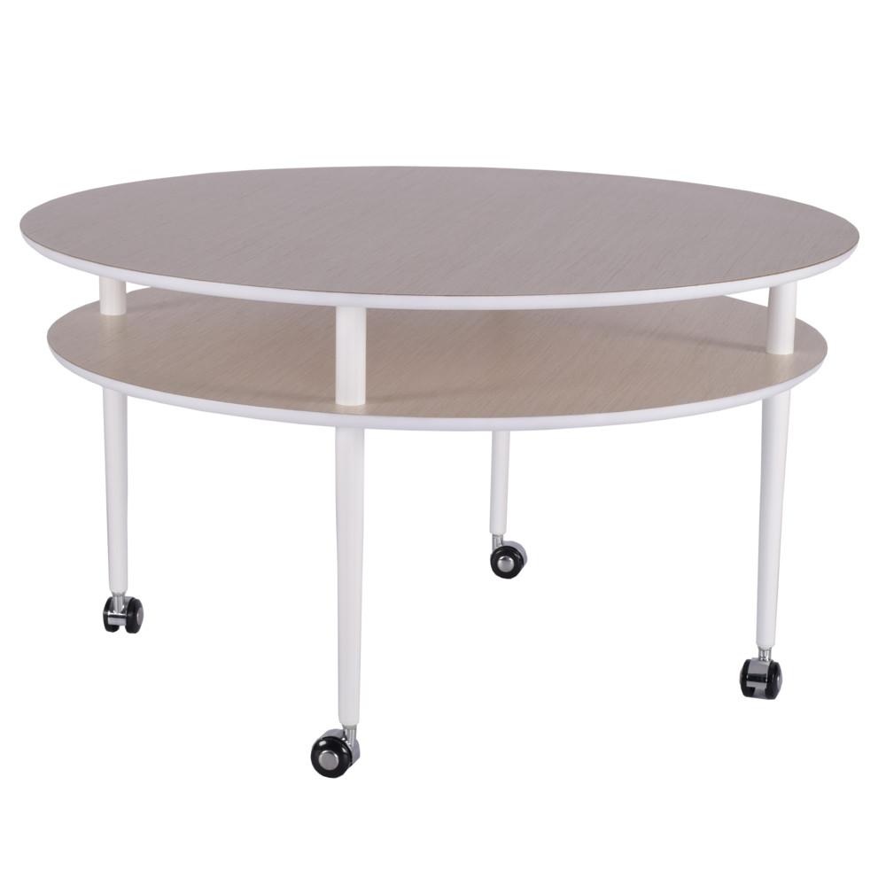 Konferenčný stolík na kolieskach RGE Casper, ⌀ 90 cm