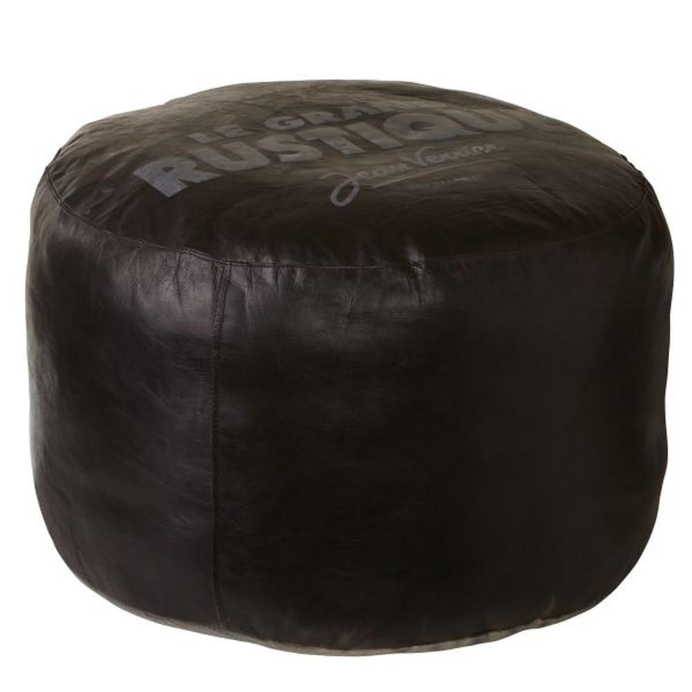 Kožený puf Texas Black