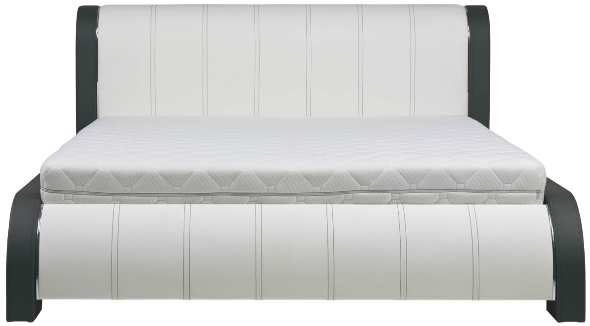 BOG-FRAN NAOMI 180 posteľ s roštom - biela / grafit