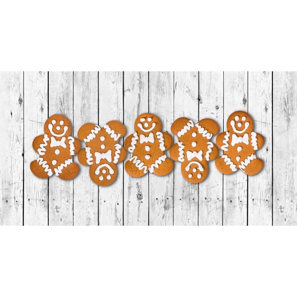 Kuchynský behúň Crido Consulting Gingerbread Family, dĺžka 100 cm
