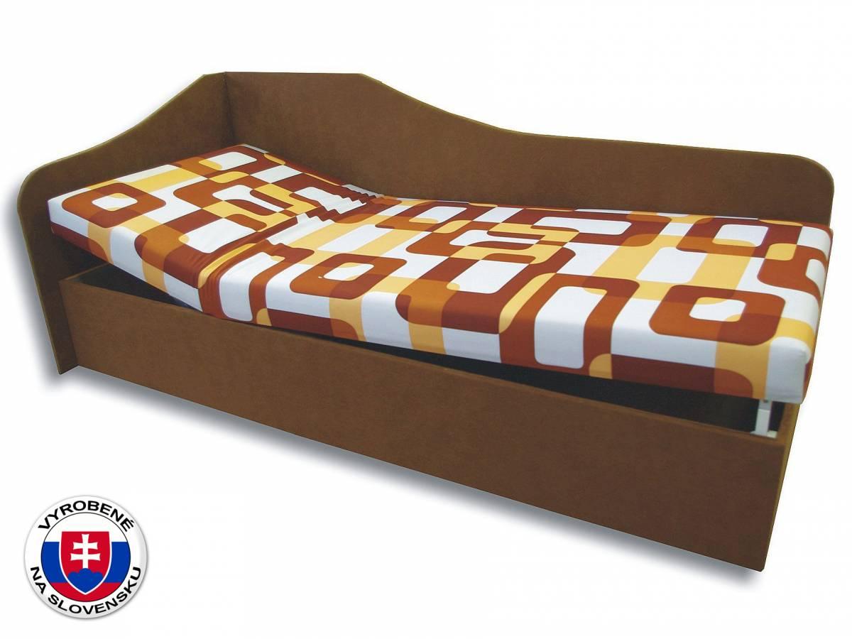 Jednolôžková posteľ (váľanda) 80 cm Anita (Gusto 11 + Hnedá 13) (L)