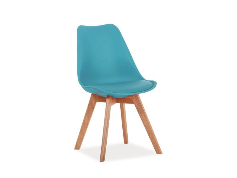 CRIS jedálenská stolička, dub/morská zelená