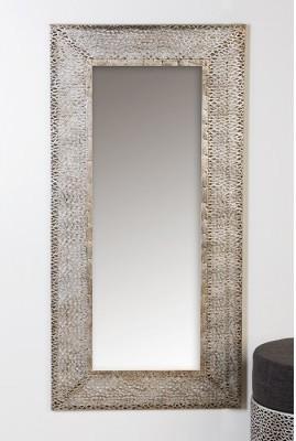 Nástenné zrkadlo PURLEY - antická strieborná