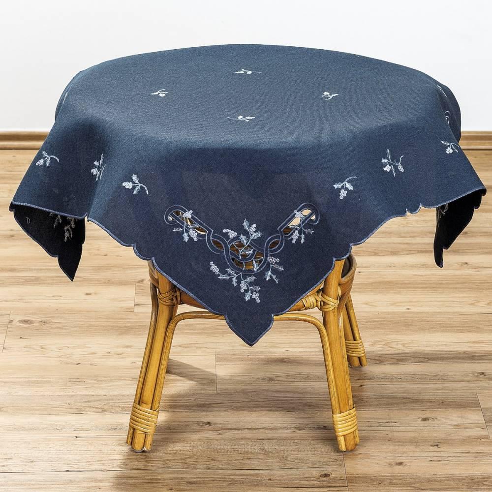 Forbyt Vianočný obrus imelo modrá, 85 x 85 cm