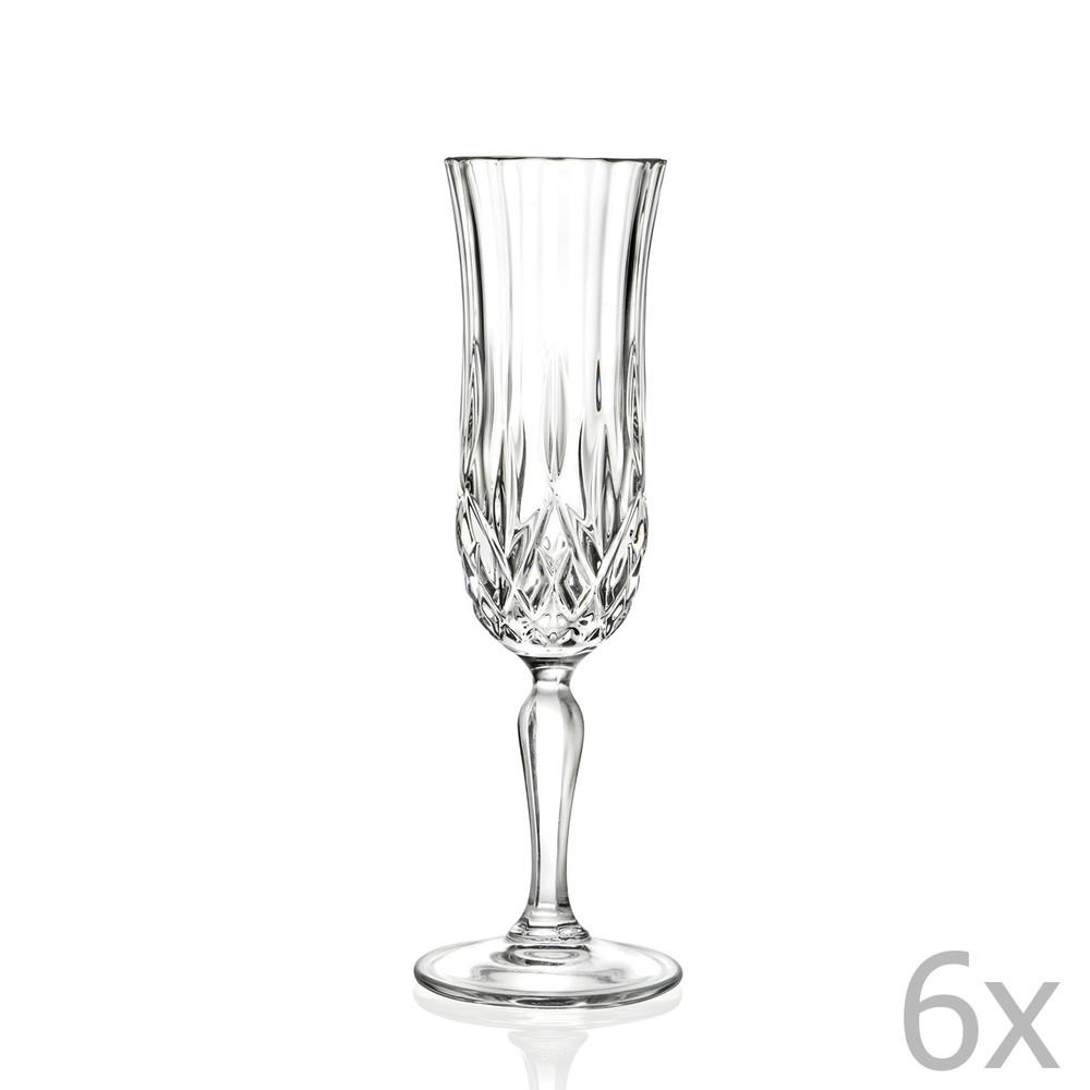 Sada 6 pohárov na sekt RCR Cristalleria Italiana Maddalena