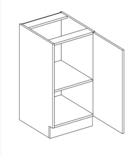 D40 P/L dolná skrinka 1-dverová AURA mocca/šedá